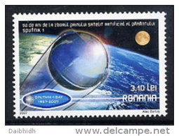 ROMANIA 2007 Anniversary Of First Artificial Satellite  MNH / **.  Michel 6244 - 1948-.... Republics