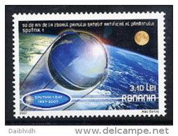 ROMANIA 2007 Anniversary Of First Artificial Satellite  MNH / **.  Michel 6244