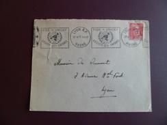 """Lettre De Lyon Le 17/4/1951 Avec Le N°813 Et Flamme Illustrée Mappemonde """"FISE= UNICEF- ASSISTE LES ENFANTS  """" B/TB"""