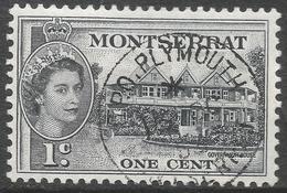 Montserrat. 1953-62 QEII. 1c Used. SG 137 - Montserrat