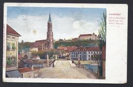 LANDSHUT MARTINSDOM SCHLOSS BAYERN BAVIERE  Nach SAARGEMÜND LOTHRINGEN FELDPOST - Landshut