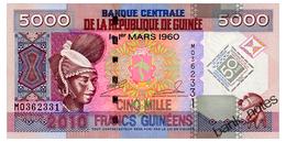 GUINEA 5000 FRANCS 2010 COMMEMORATIVE Pick 44 Unc - Guinee