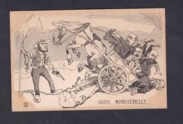 Prix Fixe Politique Satirique Caricature Chute Ministerielle Resistance Face Aux Inventaires 1906 Separation Eglise Etat - Satiriques