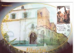 113-Marcofilia-Annullo Speciale-Tema:Religione-Turismo-Città D'ItaliaCastrovillari-Cosenza-2000-Santuario Maria SS. - 6. 1946-.. Repubblica