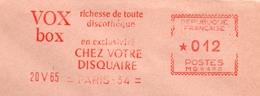 """Disque, Voix,  """"Vox"""" - EMA Havas MG - Enveloppe Entière  (S060) - 78 T - Disques Pour Gramophone"""