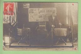 Saint Etienne : Démonstrateur De Foire, Le Laveur Américain, Machine à Laver Le Linge. Publicité. 3 Scans. Carte Photo - Foires