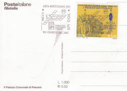 115-Marcofilia-Annullo Speciale-Tema:Sindacati-Montesilvano-Pescara-2000-Congresso Naz. SPI CGIL - 6. 1946-.. Repubblica