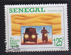 Sénégal. 13e Paris Dakar. Motocyclette Et Voiture De Nuit. 890 - Motorbikes