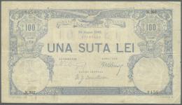 Romania / Rumänien: 100 Lei 1902 P. 14, Used With Several Folds And Light Creases, No Holes, Minor Border Tears, St - Romania