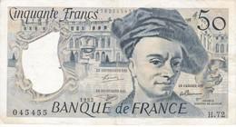 BILLETE DE FRANCIA DE 50 FRANCOS DE QUENTIN DE LA TOUR DEL AÑO 1992 (BANKNOTE) - 1962-1997 ''Francs''