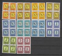Yvert 69 / 78 Oblitéré Bloc De 4 - Port Dû (Taxe)