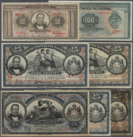 Greece / Griechenland: Set With 7 Banknotes Containing 3 X 25 Drachmai 1915, 25 Drachmai 1917, 25 Drachmai 1918 With Ove - Greece