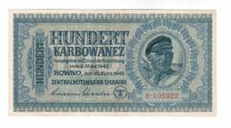 Ukraine / Rovno 1942 Year 100 Karbovantsev - Ucrania