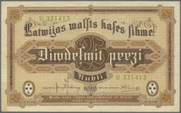 "Latvia /Lettland: 25 Rubli 1919 P. 5h, Series ""R"", Sign. Kalnings, Center Fold And Several Creases In Paper, Still Crisp - Latvia"