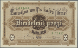"Latvia /Lettland: 25 Rubli 1919 P. 5h, Series ""H"", Sign. Kalnings, Crisp Original Condition: UNC. - Latvia"