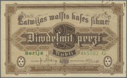 "Latvia /Lettland: 25 Rubli 1919 P. 5g, Series ""G"", Sign. Kalnings, Never Horizongally Or Vertically Folded But Corner Fo - Latvia"