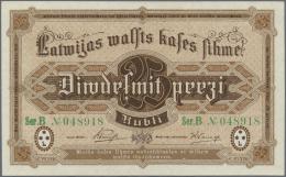 Latvia /Lettland: 25 Rubli 1919 P. 5d, Series B, Sign. Purins, Green Serial Number, In Crisp Original Condition: UNC. - Latvia