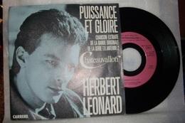 1984 - Disque 45 T - Puissance Et Gloire ( Chateauvallon) - Par Herbert Léonard - Filmmusik