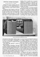 COMPTEUR HYDRO-ELECTRIQUE De MM. MARCHAND Et GERBOZ    1885 - Non Classificati