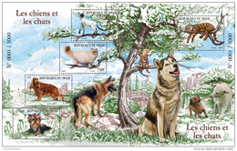 NIGER 2015 ** Cats & Dogs Hunde & Katzen S/S - OFFICIAL ISSUE - A1546 - Farm