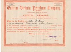 Action Shares Galician Victoria Petroleum Company Limited ( Pétrole ) ( Manque Les Coupons ) - Oil