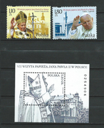 Poland 2002 The 7th Visit Of The Pope John Paul II In Poland.S/S And Stamps.MNH - 1944-.... República