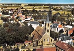 78-LE MESNIL-SAINT-DENIS- L'EGLISE VUE DU CIEL - Le Mesnil Saint Denis