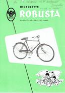 Publicité Originale + Tarif Bicyclette ROBUSTA - PANNONIA BUDAPEST - Société Hongroise Pour Le Commerce - Publicités