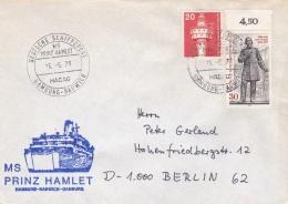 M/S Prinz Hamlet P/m Deutsch Schiffspost HADAG Hamburg-Harwich 1978   (T15-22) - Ships