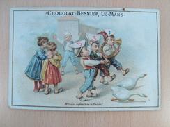 Chromo Chocolat BESNIER LE MANS Allons,enfants De La Patrie ! - Chocolate