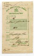 Wuerttemberg / 1877 / Postschein Ortsdruck Neuenbuerg (10528)