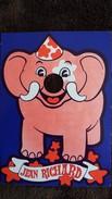 CPSM CIRQUE JEAN RICHARD ELEPHANT GRAPHIQUES LAFAYETTE TROUEE EMPLACEMENT TROMPE - Circo
