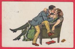 219259 /  Illustrator ?? - MAN KISS WOMAN Armchair BOOK , LMM No. 921 , USED LOVETCH BULGARIA - Andere Illustrators