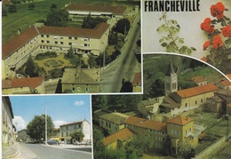 CPM De  FRANCHEVILLE  (69)  -  La Maisonnée, La Place, La Claire Maison Et L' Eglise   //  TBE - Frankreich