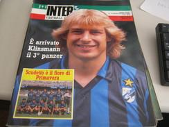 RIVISTA  INTER  FOOTBALL CLUB LUGLIO-AGOSTO 1989 - Sport