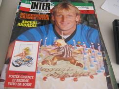 RIVISTA  INTER  FOOTBALL CLUB  NOVEMBRE 1989 - Sport