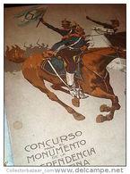 Concurso Para El Monumento De La Independencia Argentina Original Book 1908 - History & Arts