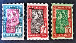 COLIS POSTAUX 1926 - OBLITERES - YT 20 + 22 + 24 - Tunisie (1888-1955)