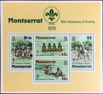 Montserrat 1979 Scouts Minisheet MNH - Montserrat