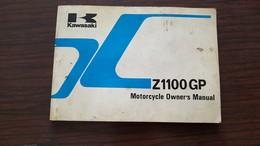 1) Kawasaki Z 1100 GP 1983 Manuale Uso Originale - Genuine Owner's Manual - Bedienungsanleitung - Moto