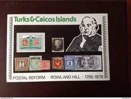 Turks & Caicos 1979 Rowland Hill Minisheet MNH