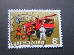 Luxembourg. 1983. Yvert N° 1018 Ob. Sapeurs Pompiers. Véhicule De Lutte Contre L'incendie.
