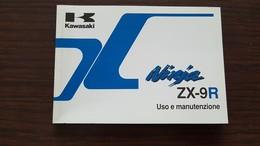 1) Kawasaki ZX 9R Ninja 1999 Manuale Uso Originale - Genuine Owner's Manual - Bedienungsanleitung - Moto