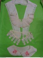 Lot De 5 Faux Col   -plastron -brode  Ou Autre - Vintage Clothes & Linen