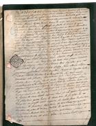 MARTIN JOSEPH Habitant La Paroisse De TRAMAYE.2 Pages Manuscrites Sur Vélin.7 Octobre 1782. - Documents Historiques
