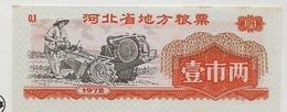 CHINA - 1972 TAX LABEL - Farmer Working - 1949 - ... Volksrepubliek