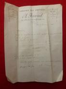 FACTURE LIBRAIRIE DES AMATEURS A FERROUD Bld St GERMAIN A PARIS - 1800 – 1899