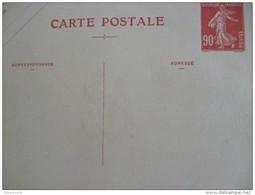 Entier France Vierge Type Semeuse 90c Rouge Carte Postale CP1 Sans Date Valeur 95€ - Entiers Postaux