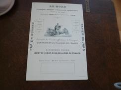 Buvard Pub Illustré Le Nord Compagnie Anonyme D'assurances Sur La Vie Recto Verso 17.7 X25.8 - Other