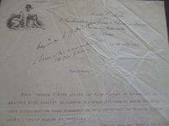 Facture Illustrée élevage Canin Paris 1930 Société Centrale Pour L'amélioration Des Races Chiens De France - Autres